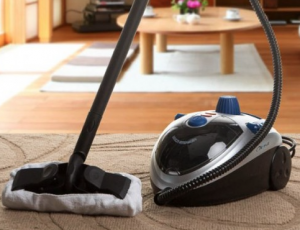 steam vacuum cleaners in action